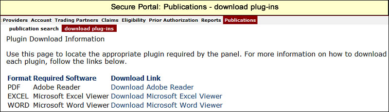 Download plug-ins page